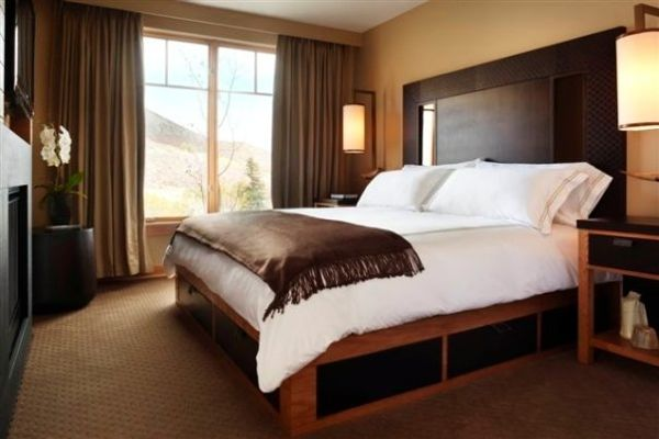 Beds with built in drawers were last big in the 70s  but these versions  with mocha leather drawers are incredibly practical  and cool in their own  way. Hotel Chic   Design Inspiration from Viceroy Snowmass