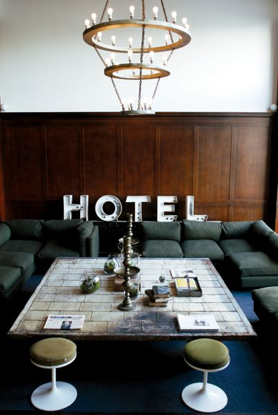 Hotel chic design lessons from portland s ace hotel for Ace hotel decor