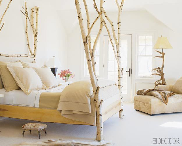 white tree branch bed frame | Hotel Chic | The Glamour of Birch at The Ranch at Rock Creek