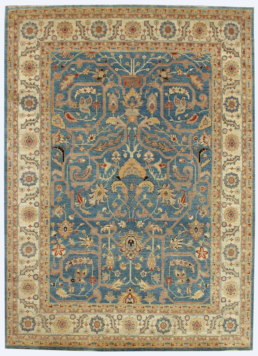 Attractive J32626 Formal Blue Oriental Rug