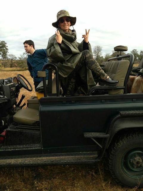 Bobbi on safari