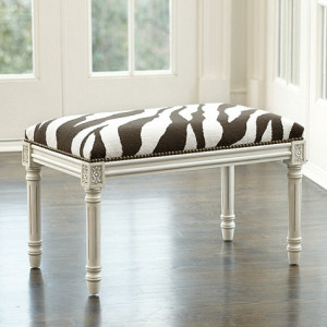 Zebra Bench Ballard Designs