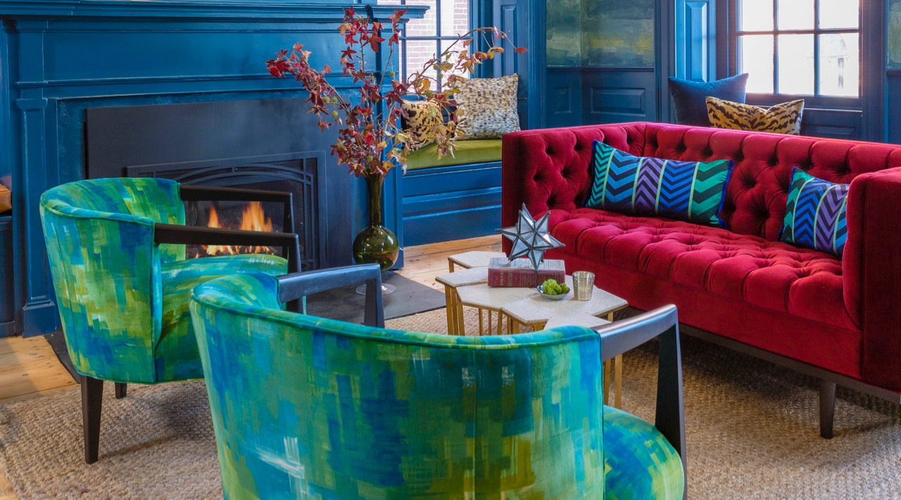 How to Rock a Peacock Blue Living Room